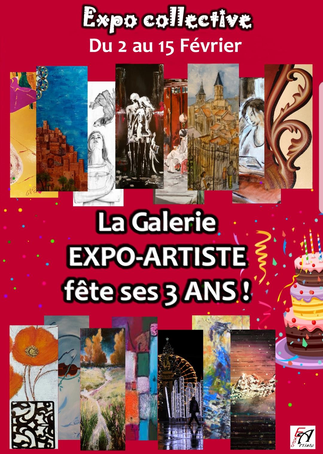 Affiche de l'anniversaire Expo-Artiste