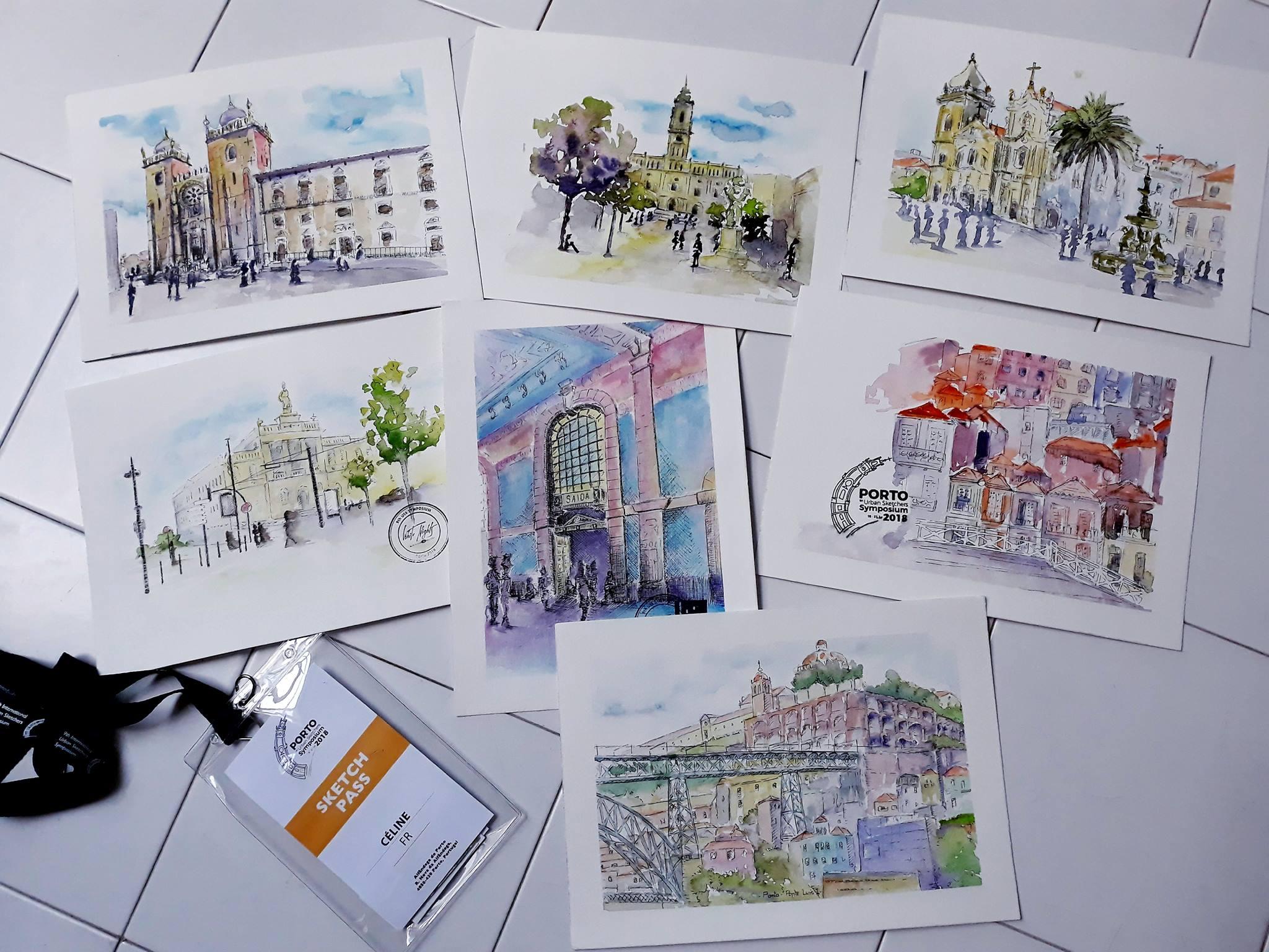 Photo de mes dessins au cours du symposium